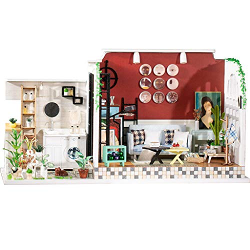 House Puzzle Decorate Creative Educational Toy – The Girl of Old Lane Time DIY Miniature Dollhouse Kit