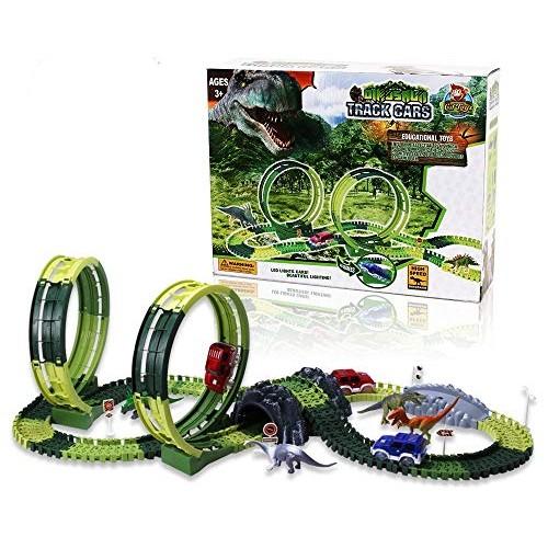 CifToys Dinosaur Toys – Dinosaur Race Car Track Toys for