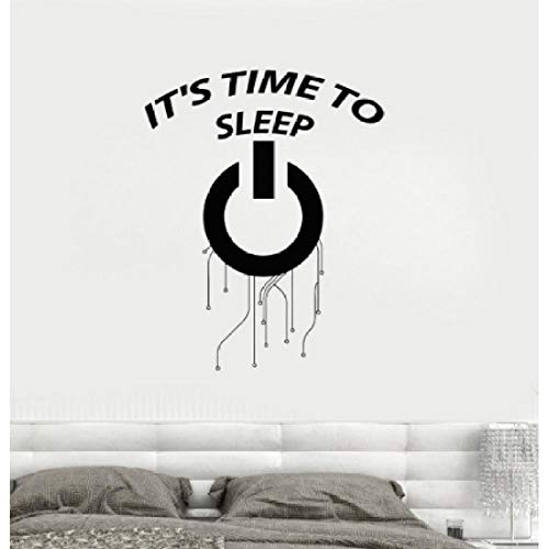 wylcxx It' Time to Sleep Words Wall Sticker Creative Vinyl Decals for Bedroom Removable Living Room Kids Decorate Decal 42x53cm