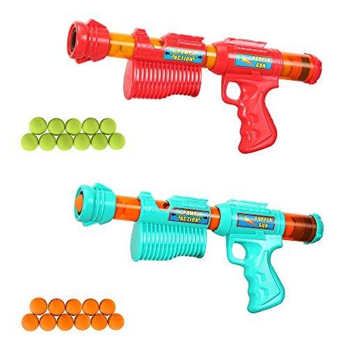 NOVCOLXYA Power Popper Gun 2 Pack Atomic Power Popper Guns Stress Relief Toys Guns