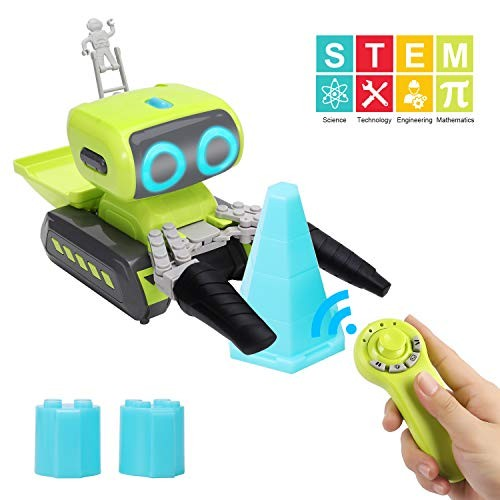Tuptoel Robots Toys Innovative Construction & for Kids 2 in 1 Remote Control Robot Programmable RC Astronaut Educational Toys Gifts Interactive Stem 3+ Years Old