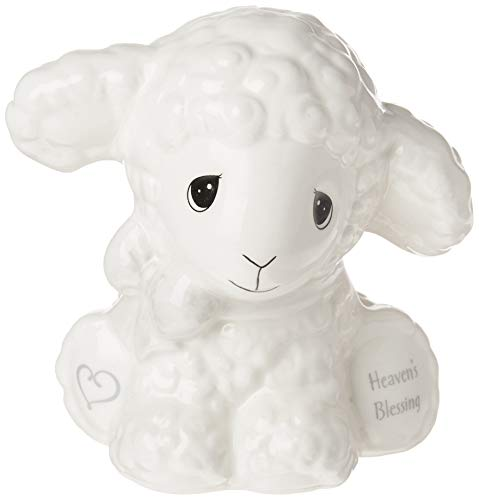 Precious Moments Luffie 192435 Heaven's Blessings Ceramic Lamb Bank Multi