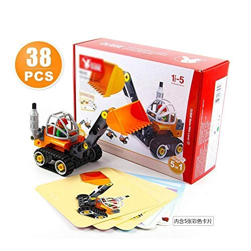 Engineering Car Sets DIY Assembly Tech Machines Loader Big Size Building Blocks Compatible Duplo Bricks Science Children Toys Bulldozer with Box
