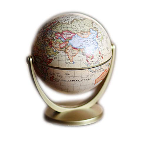 Desktop Globe Ornament Swivel Early Education In English To Restore Ancient Ways The Furnishing Articles Universal Terrestrial Study Decorates Metal for Office Home Decor