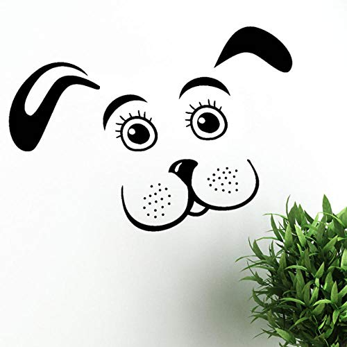 HUAIyinSTO Decorative Puppy Dog Vinyl Wall Decal Pet Animal Kids Room Nursery Stickers Removable Home Decorate Cute Art Wallpaper 58 42Cm