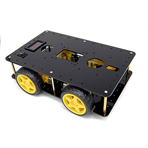 BONATECH Four-Wheel Drive Smart Car Chassis 4WD Tracking Obstacle Avoidance for Robot Speed Measurement