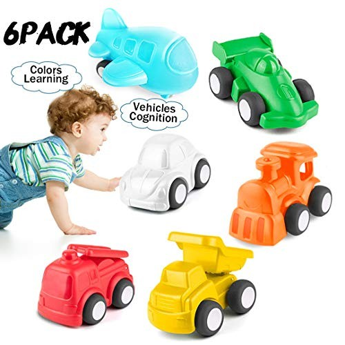 HISTOYE Toddlers Cars Toy Trucks for 1 2 + Year Old Boy & Girls