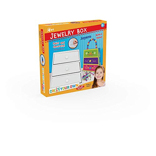 WUUNDENTOY Do It Yoour Own Jewerly Box Bag DIY Paint and Decorate