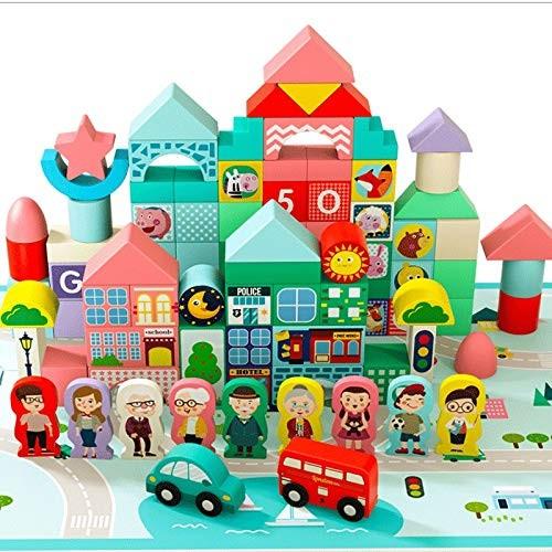 LC_Kwn Children's Building Blocks Combination Toy Wooden Puzzle Hand Multifunctional Joy Creative