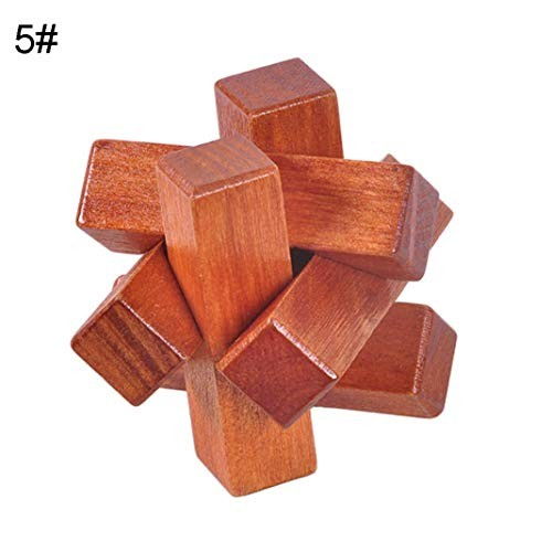 ssnsvj Classic Puzzle Building Blocks Wooden Toys Luban Kongming Lock – Knot