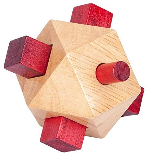 ssnsvj Classic Puzzle Building Blocks Wooden Toys Luban Kongming Lock