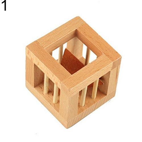 ssnsvj Classic Puzzle Building Blocks Wooden Toys Luban Kongming Lock – 1#