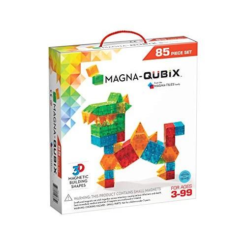 Magna-Qubix 85Piece Set The Original Award-Winning Magnetic 3D Building Shapes Creativity & Educational STEM Approved