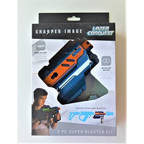 Sharper Image Lazer Tag Lazer Conquest 2 Pc Super Blaster Kit (Orange/Blue)