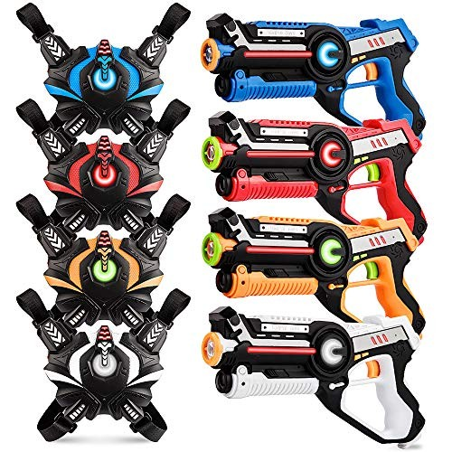 kidpal Infrared Laser Tag Upgraded Blasters Gun Toys with Vest Infrared Battle Mega Pack
