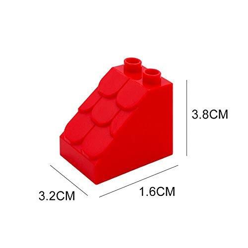 Large Building Blocks Wall Roof Pillar Pipeline Scenes Assembly Components Compatible Duplos Bricks DIY Toys Children Gift Beveled Tile