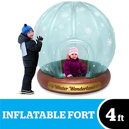 BigMouth Inc Giant Inflatable Snow Globe Fort Measures 48 x 46 53 Made of Durable Vinyl with Welded Seams Indoor and Outdoor Play Makes a Great Gift