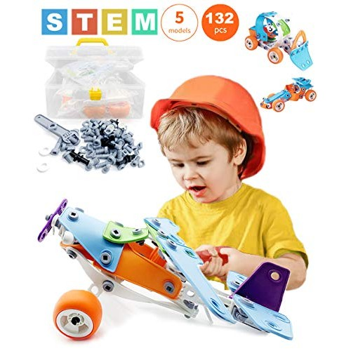 Zoomdream Best Toy Gift For Kids Stem Toys Boys 132 Piece Educational Engineering Building Set Girls Ages 7 8 9 10 Years Old 5 6 Year Can Build Educational Toys Planet,Modern Dining Room Sets For Small Spaces