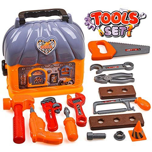 Kids Toys Set for Boys Tool Kits Toy 2-8 Year Old Educational Children Toddlers Birthday Gift 2-7 Boy Role Play Present Age 3-6 Toolbox