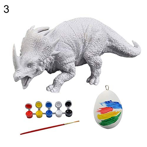 loinhgeo-DIY Kids Creative Toy 3D Dinosaur Figurines Model DIY Painting Graffiti Hand Craft Education – 3