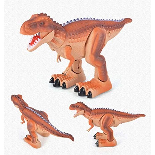 Perfectly creative Simulation model electric dinosaur education useful wisdom remote control smart children's toys Holiday gift educational suitable for childre Color Brown-a