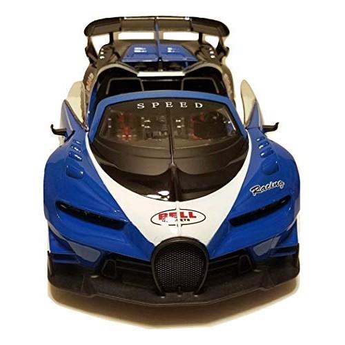 Super Car Blue Bugatti   Battery Operated Remote Control Car   Working Doors Trunk