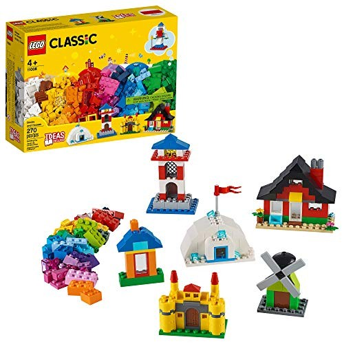 LEGO Classic Bricks and Houses 11008 Kids Building Toy Starter Set with Fun Builds to Stimulate Young Minds New 2020 270 Pieces