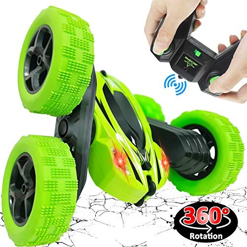 Remote Control Car Toy for Kids Boys GirlsRC Stunt Car 360 Rotating 4WD Double