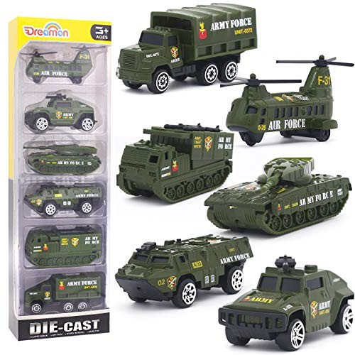 Diecast Military Vehicles Army Toy Mini Pocket Size Play Models Truck Tanks Helicopter for