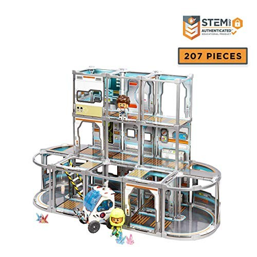 GUJO Space Station Kids Play Set Build-Your-Own Mars Toy Mission Base – STEM for Boys and Girls Ages 6-11
