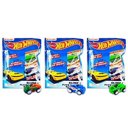 Hot Wheels Minis Blind Bags with Slime – Pack of Three Bags – Each