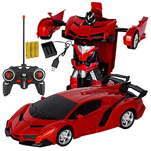 xplanet RC Car for Kids Transform Robot Toy One-Button Deformation Model 1 18 Transformation Remote Control Vehicle Children Perfect Birthday Gift