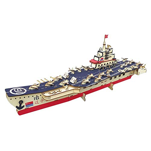 xUMING Model Kit 3D Jigsaw Puzzle Wooden Liaoning Ship Building Block Craft Suitable for Children Over 6 Years Old