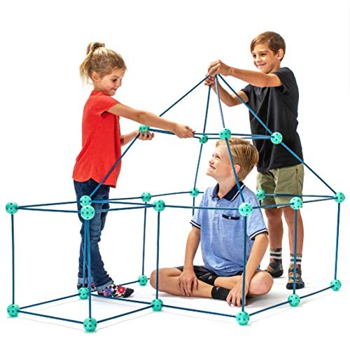 Fort Building Kits for Kids – Fun Forts STEM Toys Play Tent Kit with 81 Pcs