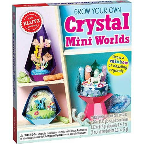 Klutz Grow Your Own Crystal Mini Worlds Science & Activity Kit Renewed