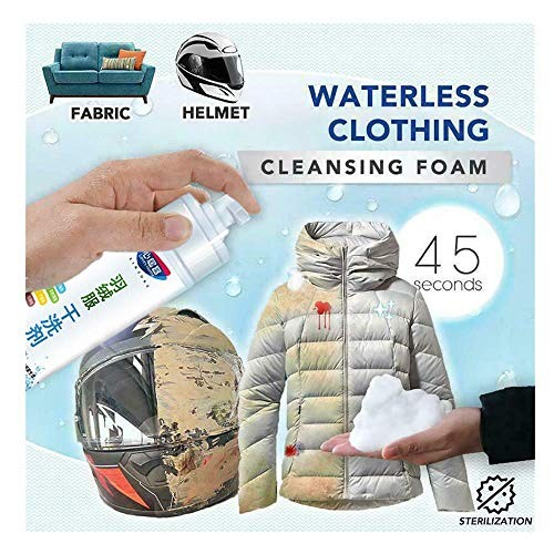 Household Stain Dry Remover SprayRinse-Free Cleansing SprayWaterless Clothing FoamDown JacketPowerful All-Purpose Removing for CarpetSofasQuiltCurtains White