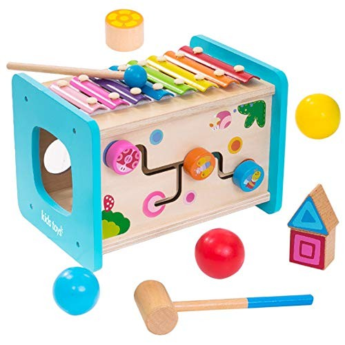Wooden Building Blocks Educational Toys Children's Early Education Puzzle Box Paired with Color Set Game 3-6 Years Old Birthday Gift