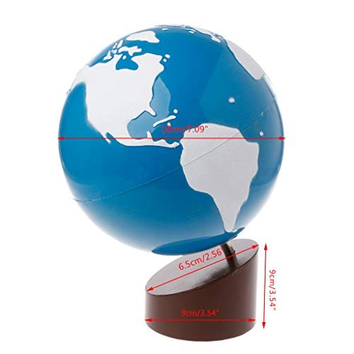 Thobu Montessori Toys for Toddlers-Montessori Geography Material Globe of World Parts Kids Early Learning Toy