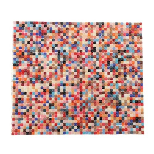 Dollhouse Miniature Mosaic Carpet Area Cover 1:12 Scale Dolls House Self Adhesive Floor Tile