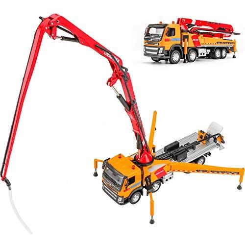 Children's Construction Truck Toy 1:50 Scale Concrete Pump Truck Metal Car Model Electronic Sound