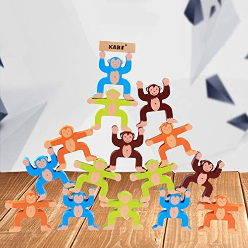 Colorful Monkey Wooden Balancing Game