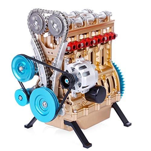 FenglinTech Stirling Engine L4 4 Cylinder Full Metal Car Assembly Kit Model Toys for Adults