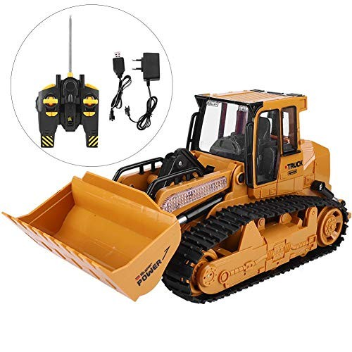 Remote Control Engineering Toy Car1 12 Simulation Electric Tractor Truck with USB Charging Cable Bulldozers for Children Birthday Christmas Gift