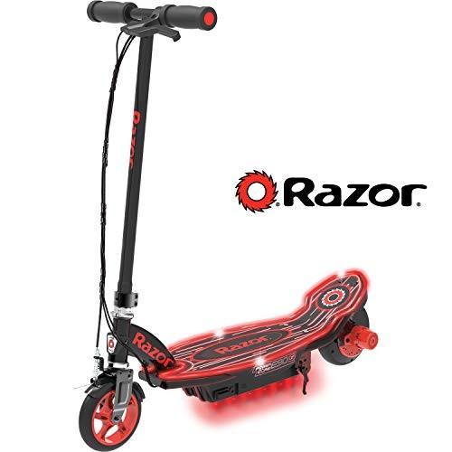Razor Power Core E90 Glow Electric Scooter – Black/Red Glow – FFP