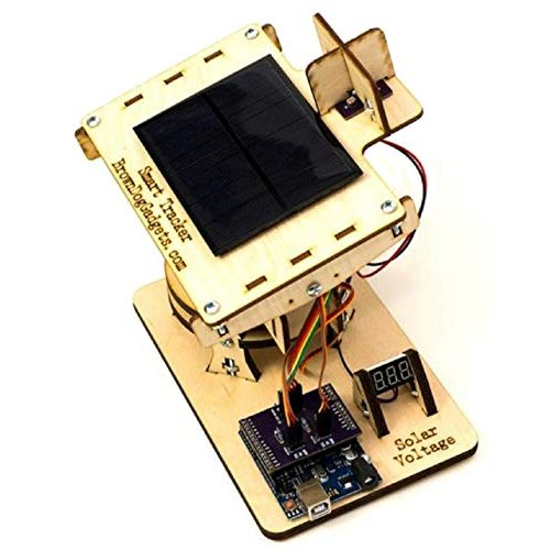 Brown Dog Gadgets – Dual Axis Smart Solar Tracker Full Kit STEM and STEAM Educational Project Kits
