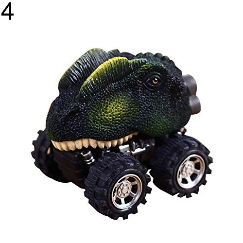 Pull Back Cars Creative Simulation Dinosaur Model Mini Toy Car for Kids Boys and Girls – 4#
