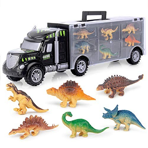 Educational Kids Toy Simulation Transport Car Carrier Truck with Dinosaur Model for Toddler Gifts