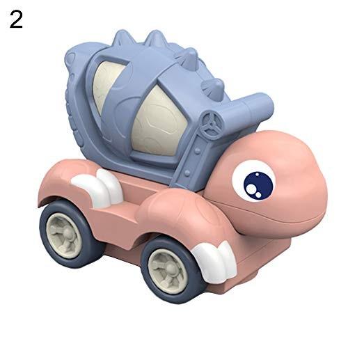 carduran Cartoon Car Kids Toy Electric Automatic Rotating Dinosaur Construction with Light Music for – Mixer