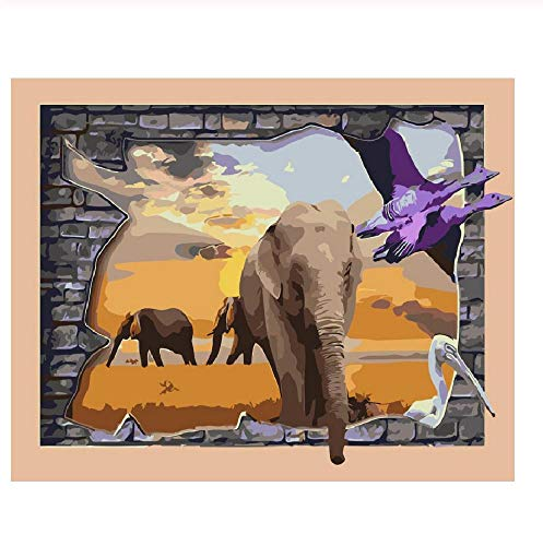 Adult Children Puzzle Classic Jigsaw 1000 Pieces Wooden 3D Elephant Family Animal Coloring Modern Home Decor DIY Wall Art Intellectual Game Unique Gift