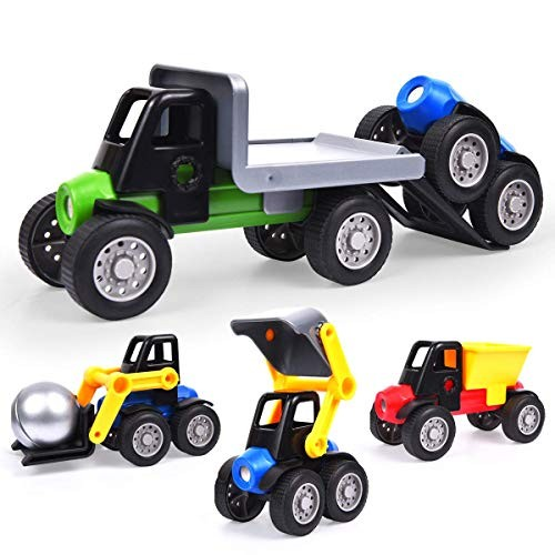 Discovery Magnetic Toys Magnet Tiles Car Toy Building 3D Balls and Sticks Take Apart Set for Kids Toddler Classroom Family Teamwork